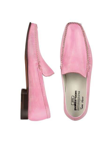 pink mens loafers pakerson pink italian handmade leather loafer shoes in