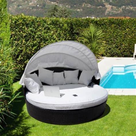 arredo giardino in rattan sintetico divano letto in rattan sintetico alia brown