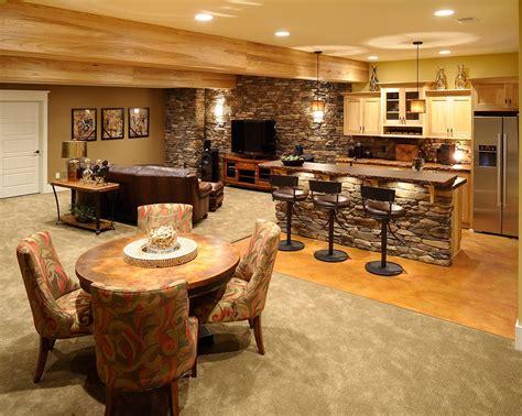 Home Design Living Room mullet cabinet cabin room wet bar