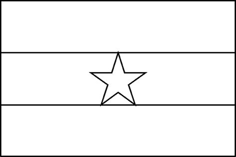 free coloring pages of flag of ghana ghana flag coloring picture