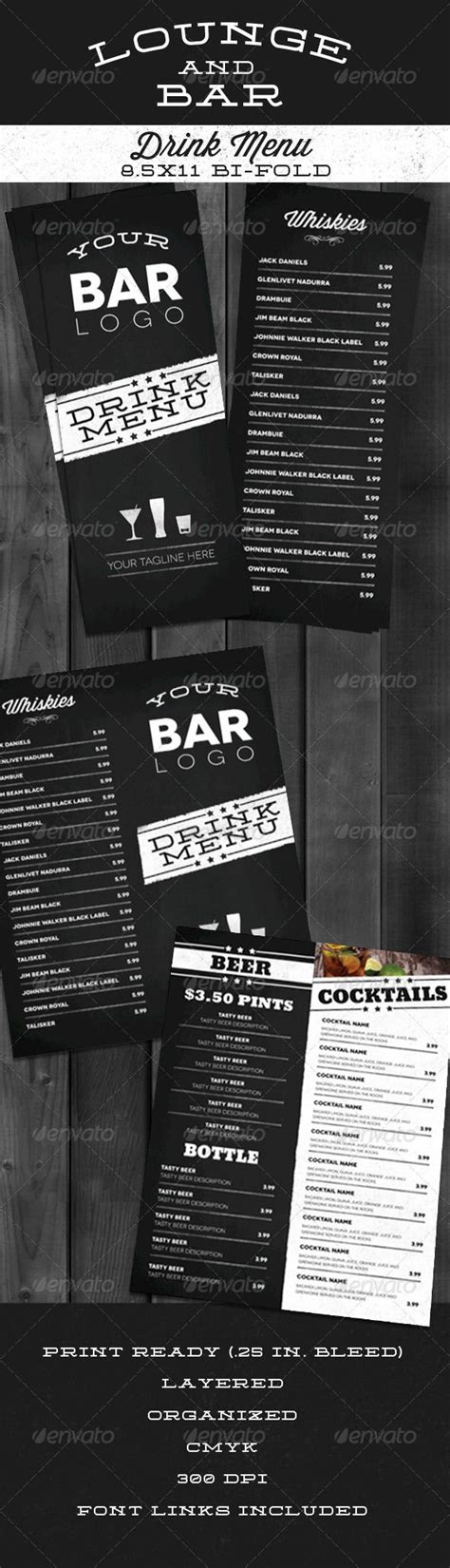 bar drink menu template 17 best ideas about bar menu on menu design