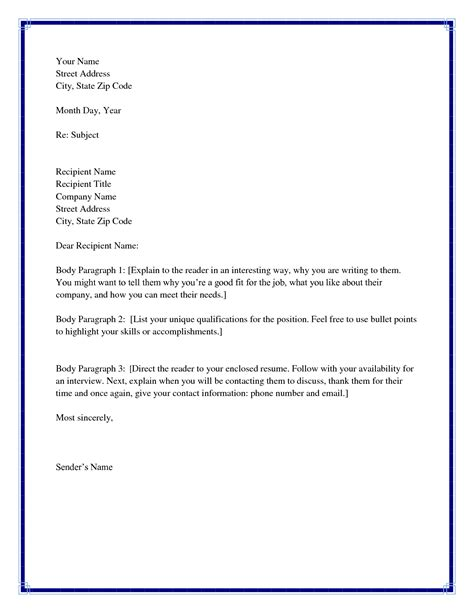 Cover Letter Salutation If Unknown by Best Photos Of Template Business Letter No Recipient