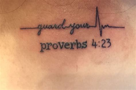 proverbs tattoos proverbs 4 23 guard your