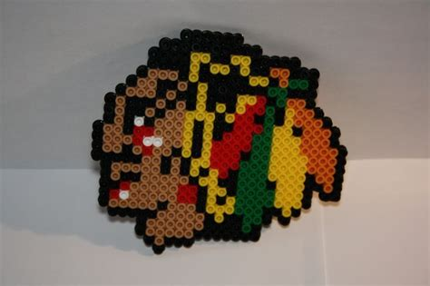 perler sports chicago blackhawks perler my perler bead creations