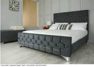 Velvet Bed Frame Ebay Uk Florence Bed Frame Upholstered In Chenille Or Crushed