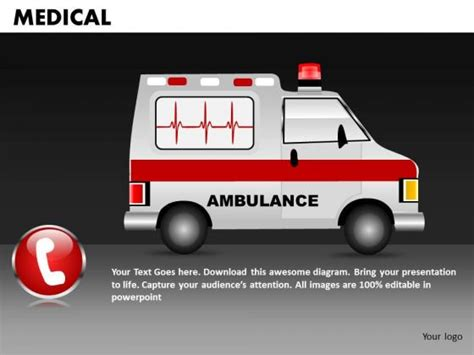 Ambulance Powerpoint Template Medical Ambulance Powerpoint Templates Editable Ppt Slides Ambulance Powerpoint Template