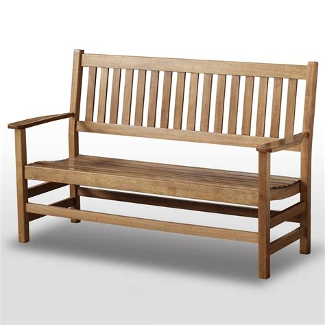 plantation bench plantation 61 slatted wood bench maple stain dcg stores