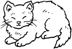 disegno di gatto stanco da colorare disegni da colorare