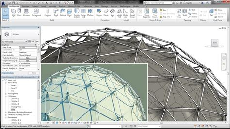 tutorial revit estructura bim revit adaptive component 03b geodesic dome steel l