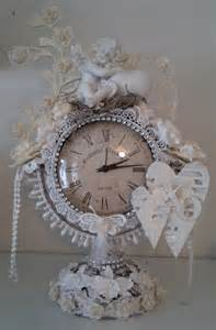 shabby chic clock altered shabby chic clock orchid crafts dt project