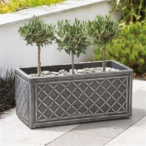 large garden planters 70cm plastic trough planter