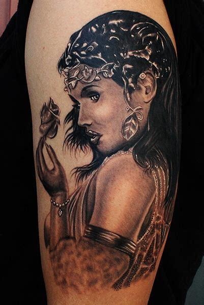 greek goddess tattoo by daniel chashoudian tattoonow