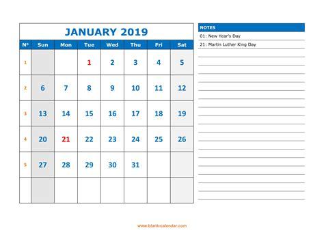 printable calendar large space