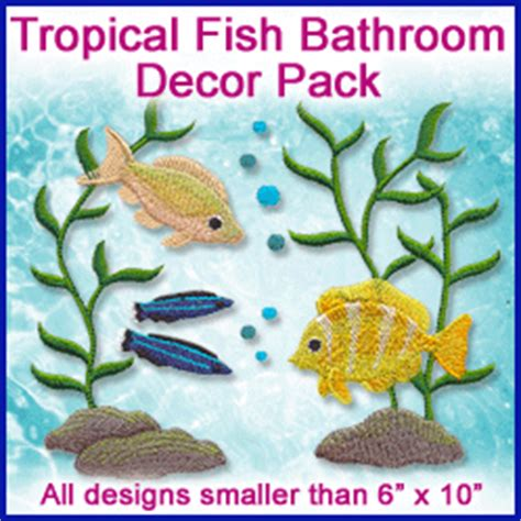 tropical fish bathroom decor machine embroidery designs at embroidery library