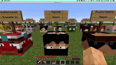mod in minecraft youtube minecraft mods youtuber heads mod pewdiepie youtube