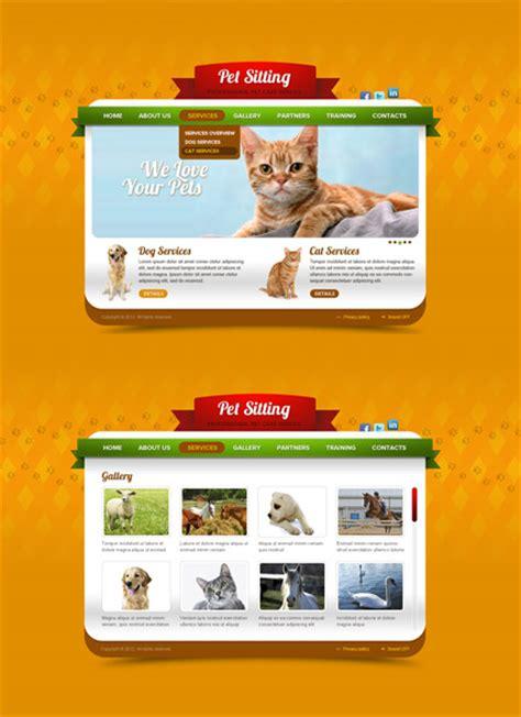Pet Care Html5 Template Pet Care Website Templates