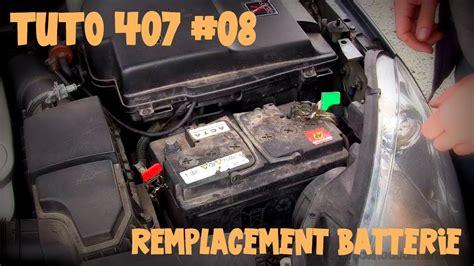 peugeot 407 battery tutoriel 407 08 remplacement batterie sur v6 essence