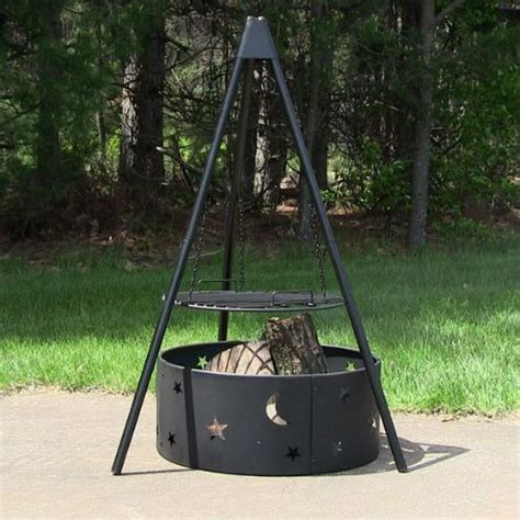 tripod bbq pit outdoor cooking pit ideas tripod with cooking grate and