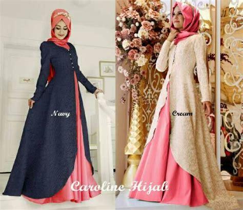 Setelan Baju Wanita Navy setelan baju muslim 3 in 1 wanita model terbaru