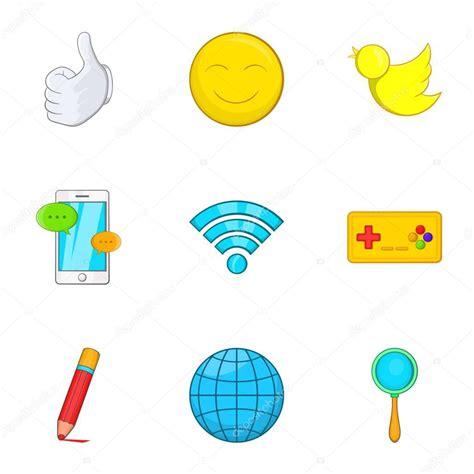ver series dibujos animados en internet en vivo online gratis mensajes sobre el conjunto de iconos de internet estilo