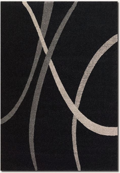 Starlight Supernova 4508 3424 Black White Grey Rug Black And White Modern Rug