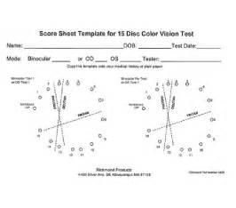 farnsworth color test farnsworth d 15 color vision test laminated scorecard