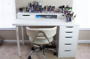 Black Makeup Vanity With Drawers Makeup Desk Is Made Up Using The Alex Drawer Unit Alex