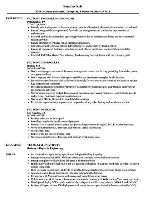 production worker resume foodcity me