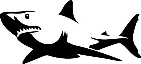 great white shark silhouette clipart best