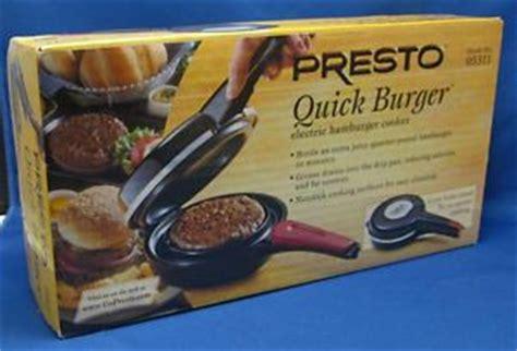 Presto Hamburger Cooker 5693 by Presto Burger Electric Hamburger Cooker Non Stick