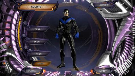 nightwing hairstyle dc universe online nightwing character creation hd youtube