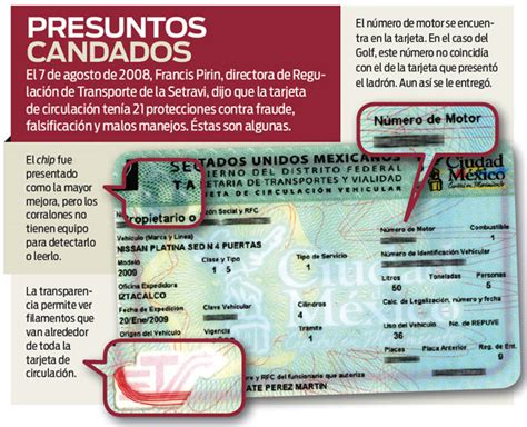 de circulacion no oficial tarjeta de circulacion no oficial licencia falsifican la tarjeta infalsificable se llevan cinco