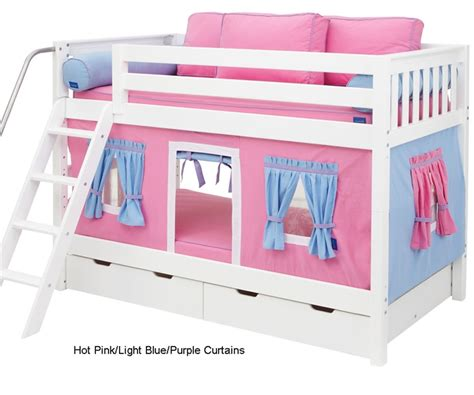 Purple Bunk Bed Maxtrix Bunk Bed Tents For Pink Light Blue Purple 3220 028 By Maxtrix Furniture
