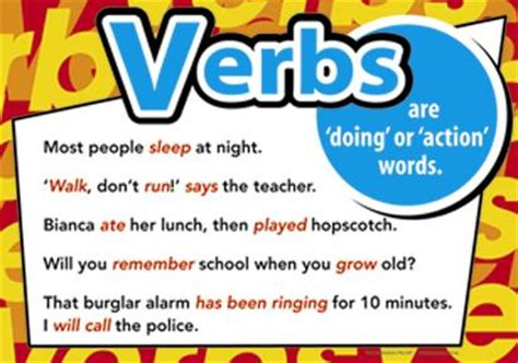 verbs tutorial learning