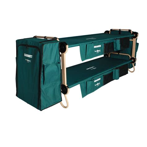 disc o bed disc o bed green bunkable beds cam o bunk 32 in with hanging cabinets 2 pack ebay