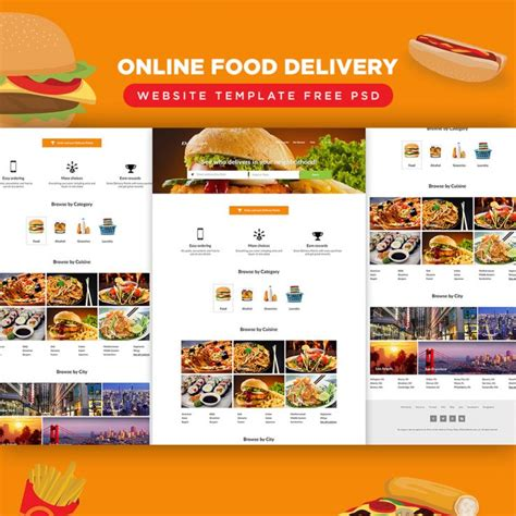 Online Food Delivery Website Template Free Psd Download Download Psd Free Website Template For Food Ordering
