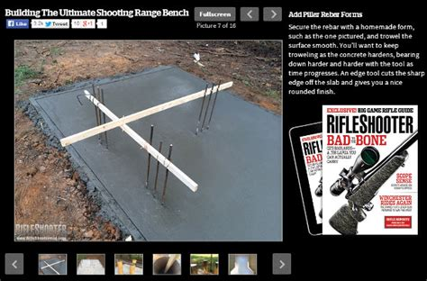 build your own shooting bench build your own concrete shooting bench daily