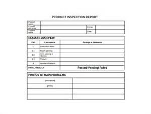 part inspection report template inspection report template