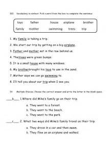 Test 1 reading comprehension a letter to a friend 2nd grade answer