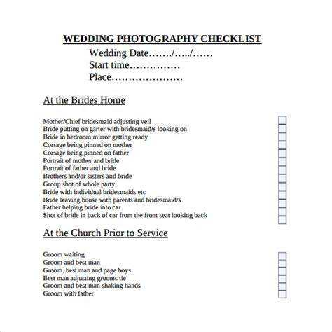 free wedding checklist template sle wedding checklist 12 documents in pdf word