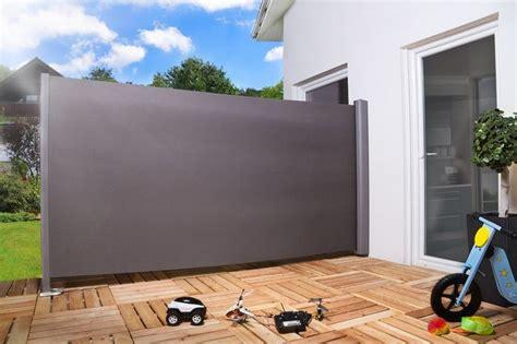 Seitenmarkise Sichtschutz Sonnenschutz Windschutz 180 X Stoff Sichtschutz Und Holz Trennwand