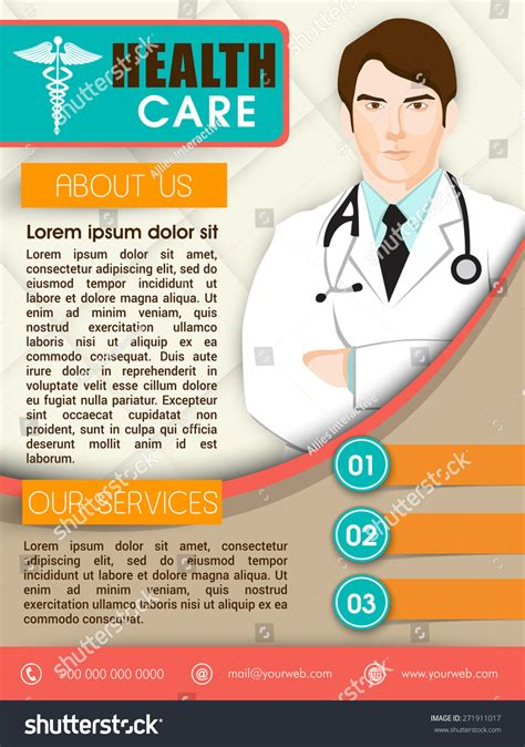 Health Care Template Brochure Or Flyer Design With Illustration Of A Doctor 271911017 Health Care Flyer Template Free
