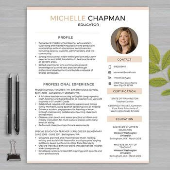 resume templates for educators resume template with photo for ms word