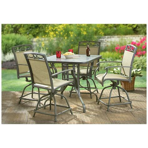 5 pc castlecreek counter height patio set 234240