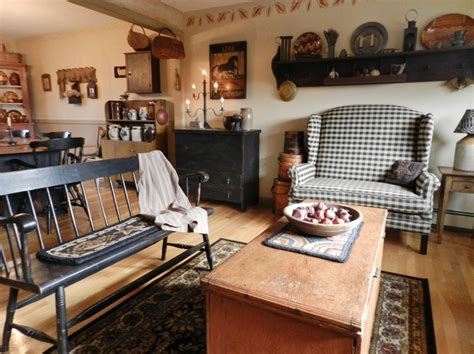 stylish primitive decorating ideas for living room