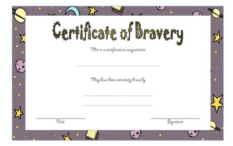 bravery certificate template bravery award certificate template 6 the best template