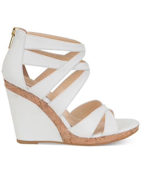 Sandal Wedges Wg45 White isola alisha wedge sandals in white lyst