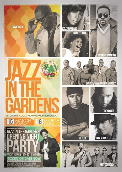 Jazz In The Garden Line Up by Line Up For Miami Jazz In The Gardens Autos Post