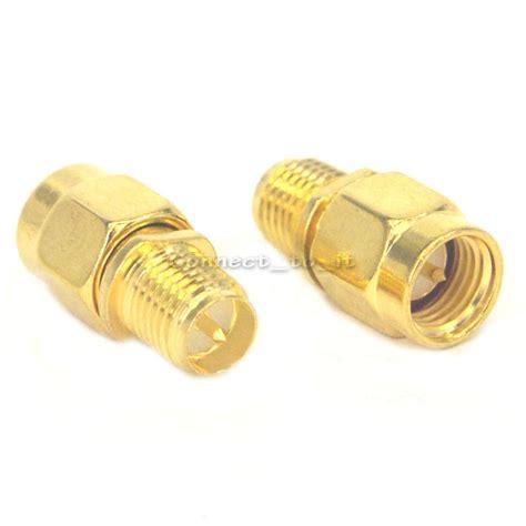 Jual Adapter Konektor N Demale To Sma 2 pieces rf sma connector rp sma to sma connector adapter goldplated