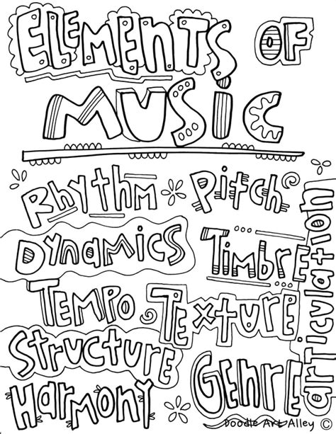 musical elements classroom doodles